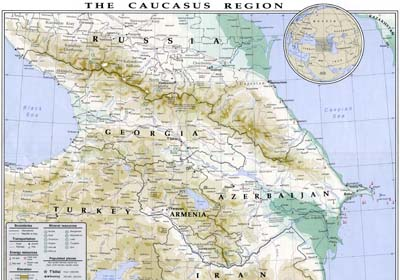 Южный Кавказ – 185 973 km² спорной территории